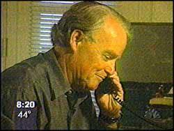 Parker on the phone to mother of rape victim